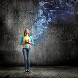Женщина с ведром Стоковая Фотография