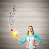 Женщина с ведром Стоковые Изображения RF