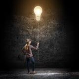 Женщина с воздушным шаром Стоковая Фотография RF