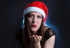 женщина с волосами поцелуя длинняя Стоковое Фото