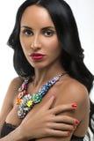 Женщина с волосами красоты длинными коричневыми Стоковые Фотографии RF