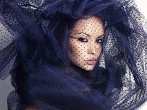 Женщина с вуалью Стоковые Фото