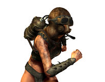 Женщина с газом Стоковое Изображение RF