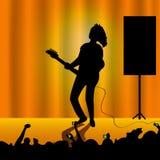 Женщина с гитарой Стоковые Изображения