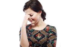 Женщина с головной болью Стоковое Изображение RF