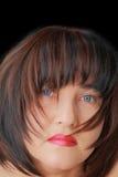 Женщина с голубыми глазами Стоковые Изображения RF