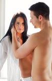 Женщина с ее парнем Стоковая Фотография