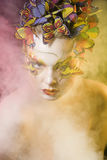 Женщина с летом творческим составляет как фея Стоковая Фотография