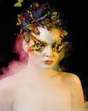 Женщина с летом творческим составляет как фея Стоковые Фотографии RF