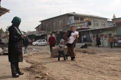 Женщина с детьми стоковое изображение rf