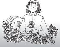 Женщина с заводами Стоковые Фото