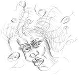 Женщина с змейками волос Стоковое фото RF