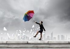 Женщина с зонтиком Стоковое фото RF