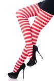 Женщина с длинними ногами Стоковое фото RF