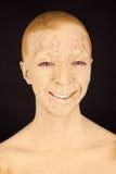 Женщина с лицевым щитком гермошлема Стоковые Изображения RF
