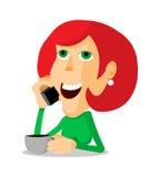 Женщина на телефоне Стоковое Изображение