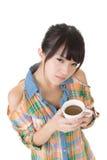 Женщина с кофе стоковая фотография rf