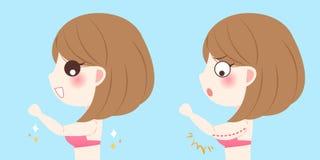 Женщина с крылами bingo иллюстрация штока