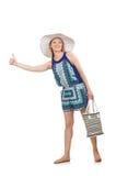 Женщина с мешком Стоковые Фотографии RF