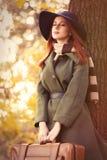 Женщина с мешком Стоковое Изображение