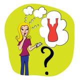 Женщина с мобильным телефоном в ее руке Стоковое фото RF