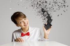 Женщина с мобильным телефоном Стоковое Изображение