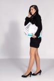 Женщина с документами серий Стоковое Изображение RF
