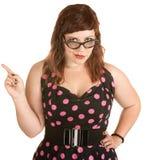 Женщина с ориентацией Стоковые Фотографии RF