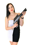 Женщина с оружием Стоковое Фото
