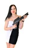 Женщина с оружием Стоковые Фото