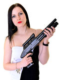 Женщина с оружием Стоковые Фотографии RF