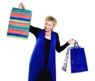женщина с покупками Стоковые Изображения RF