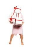 Женщина с покупками Стоковые Изображения