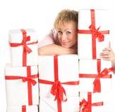 Женщина с покупками Стоковое Изображение RF