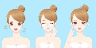 Женщина с проблемой маски глаза Стоковые Изображения