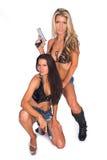 Женщина с пушкой Стоковая Фотография RF