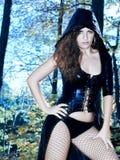 Женщина с платьем фантазии сексуальным Стоковое Изображение