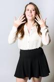 Женщина с руками стороной Стоковое Изображение RF