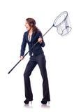 Женщина с сетью Стоковое Изображение RF