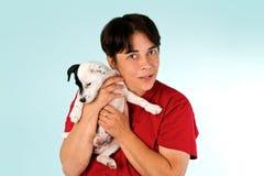Женщина с собакой Стоковые Изображения RF