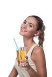 Женщина с соком Стоковое Изображение