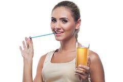 Женщина с соком Стоковая Фотография RF