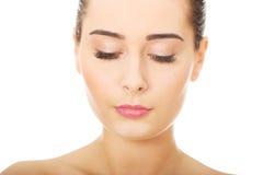 Женщина с составом и закрытые глаза Стоковая Фотография RF