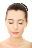Женщина с составом и закрытые глаза Стоковые Фотографии RF