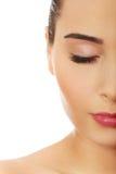 Женщина с составом и закрытые глаза Стоковое Изображение RF
