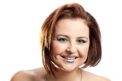 Женщина с составом клоуна Стоковое фото RF
