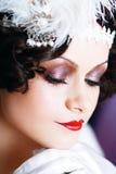 Женщина с составом подбитого глаза стоковые фотографии rf