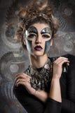 женщина с составом Steampunk стоковые фотографии rf