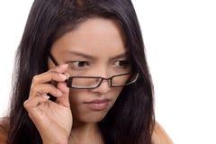 Женщина с стеклами Стоковое Изображение RF