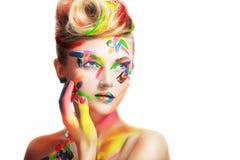 Женщина с творческим составляет стоковые изображения rf